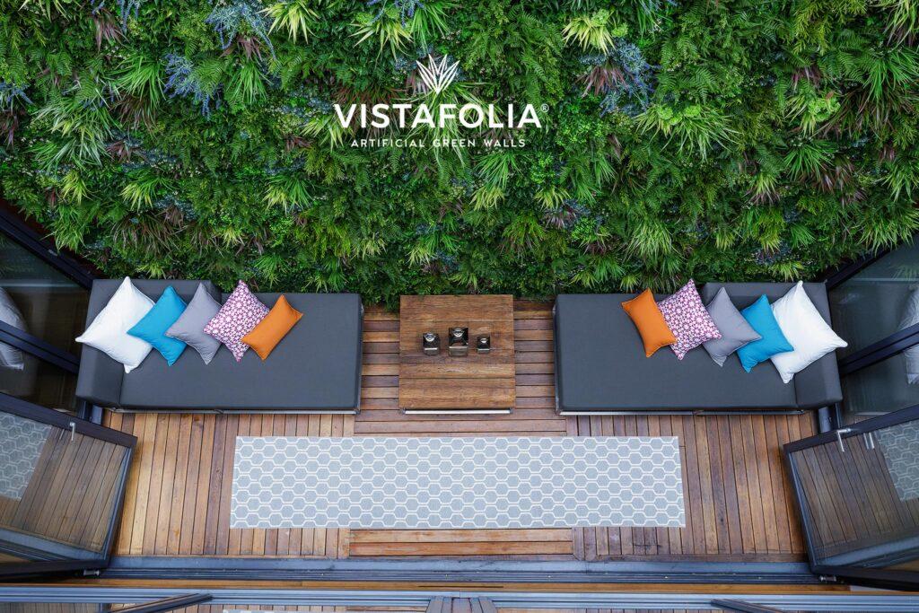 vistafolia artificial green walls, commercial space
