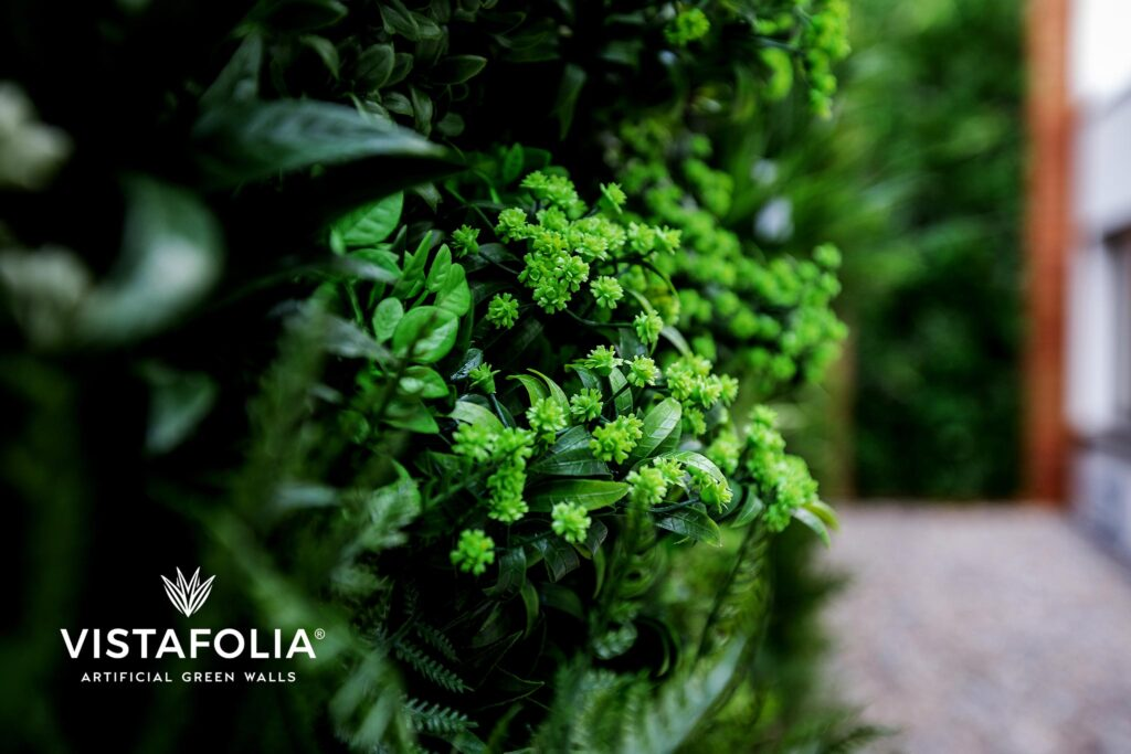 artificial green walls in commercial space near me