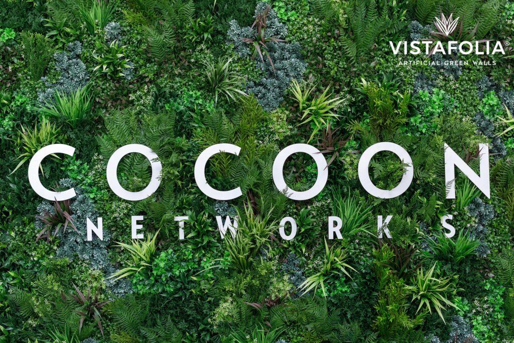 cocoon networks, vistafolia artificial green walls