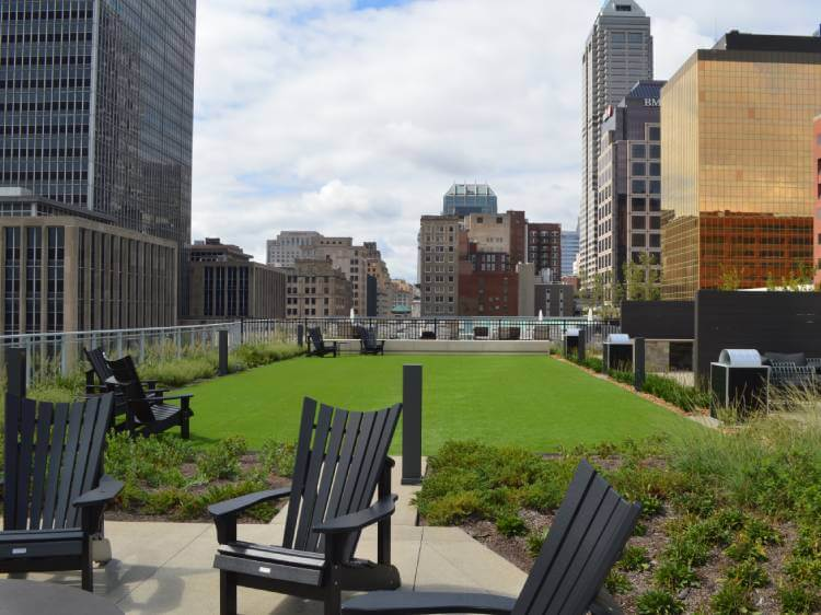 Indiana commercial artificial turf installation