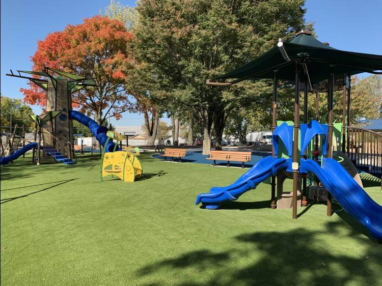 Indiana playground built with synlawn artificial turf